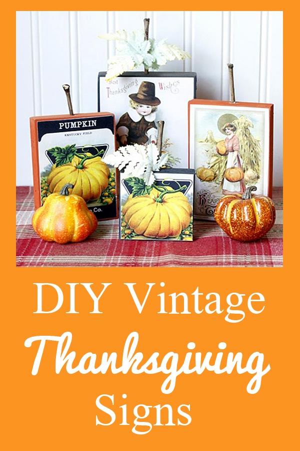 DIY Vintage Thanksgiving Signs