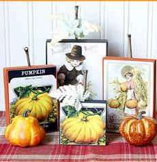 DIY Vintage Thanksgiving Signs