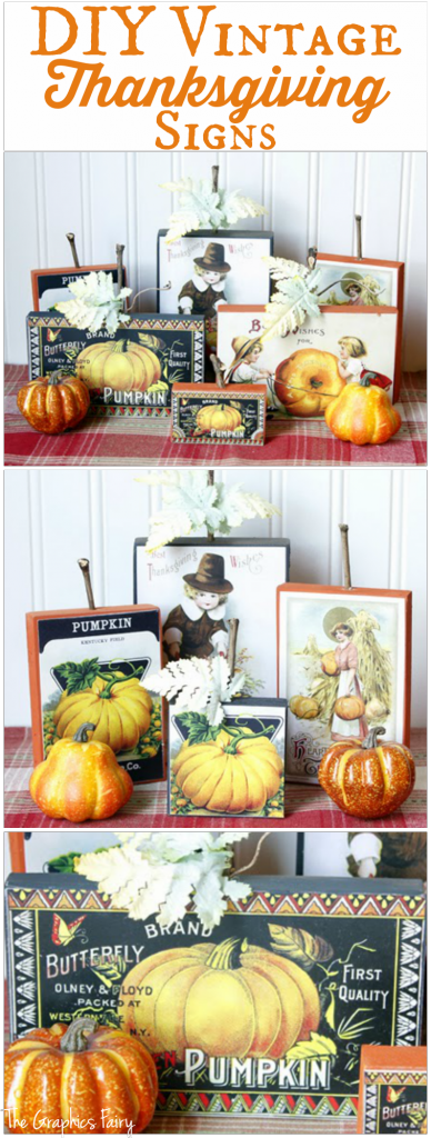 Diy Vintage Thanksgiving Signs The Graphics Fairy