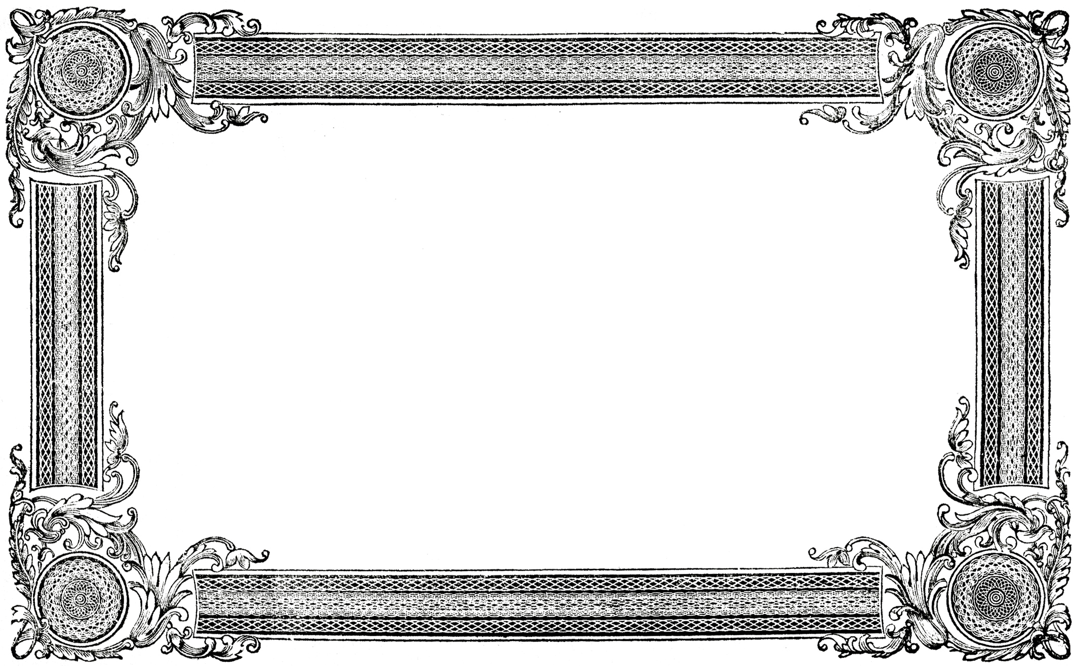 Free Frame Clip Art Images - The Graphics Fairy for Ornate Picture Frame Clip Art  183qdu