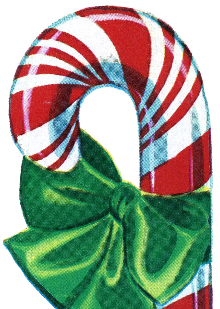 Free Vintage Christmas Clip Art - Candy Cane - The ...