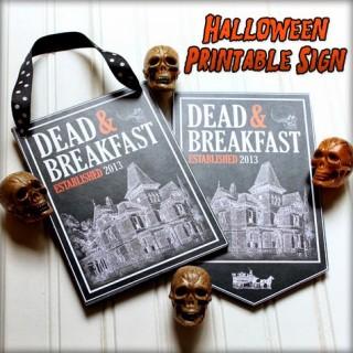 Halloween Printable Sign