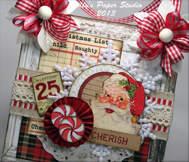 Handmade Retro Santa Card