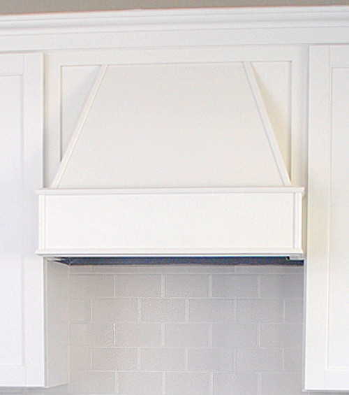 White Kitchen Hood