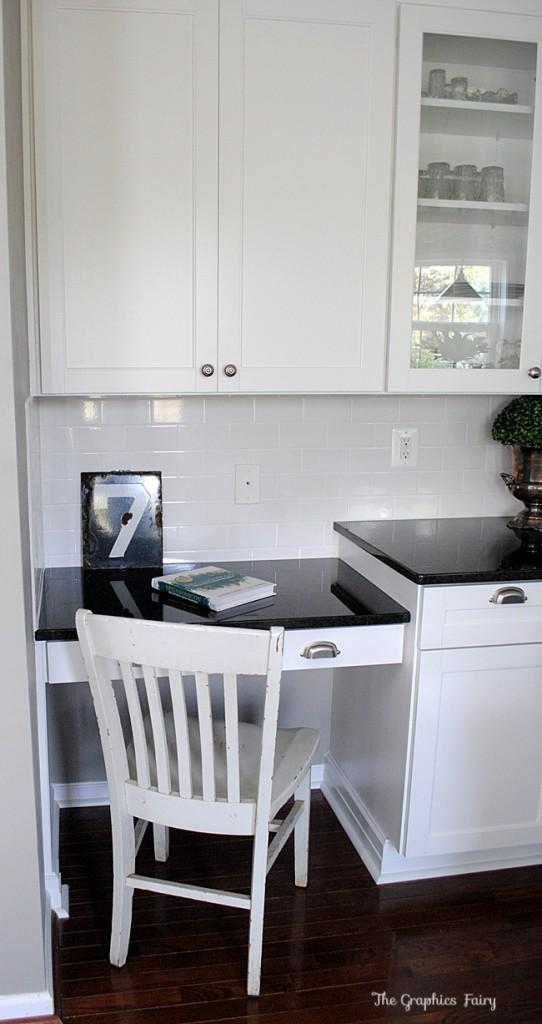Kitchen Reno desk
