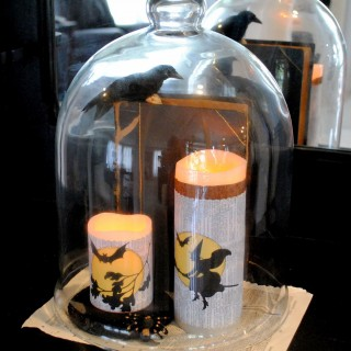 Make Halloween Candle Wraps