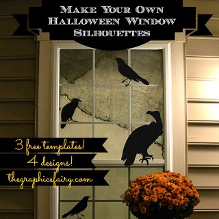 Halloween Window Silhouette Templates