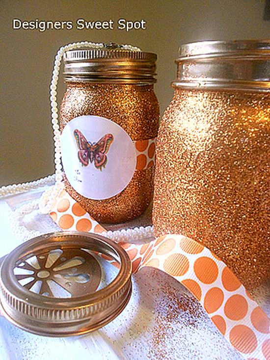Mason Jar Candles with Gift Tags