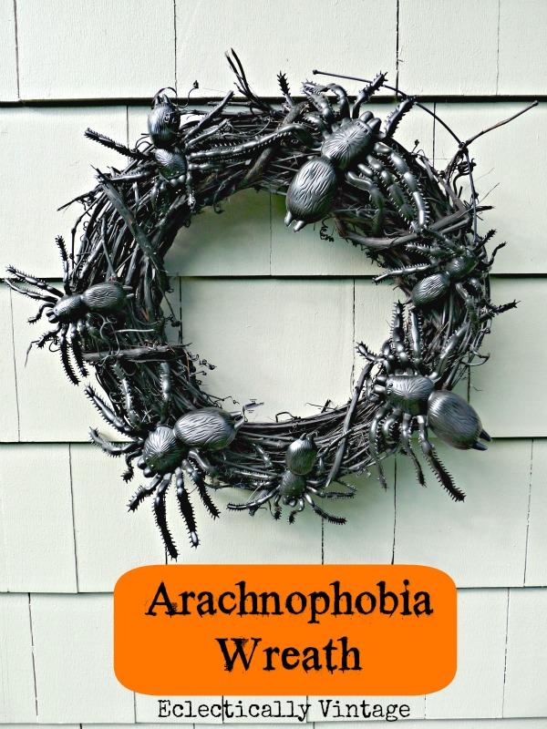 Arachnophobia Wreath eclecticallyvintage.com