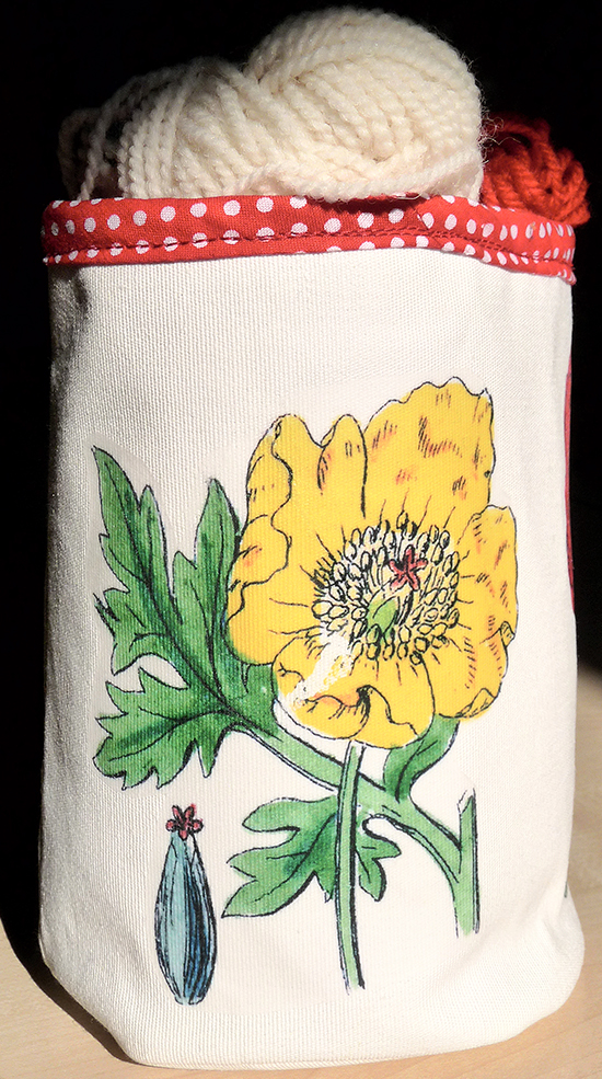 DIY Bucket Back With Poppies