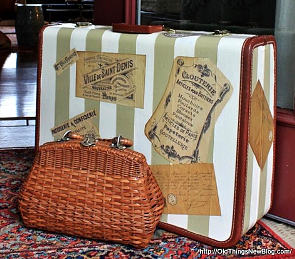 Painted Suitcase Vintage