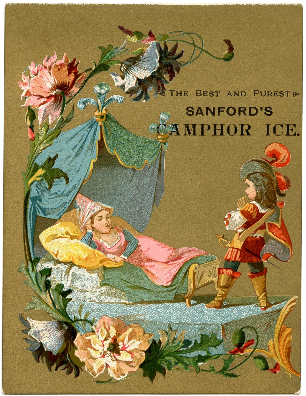 Vintage Sleeping Beauty Illustration - The Graphics Fairy