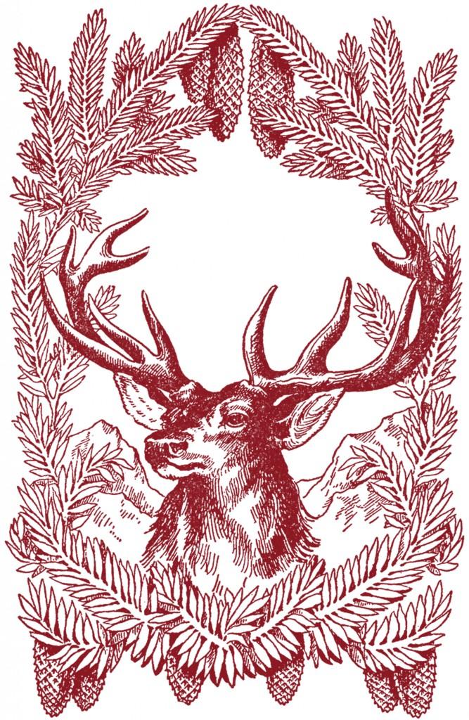 Free Vintage Christmas Pictures Deer