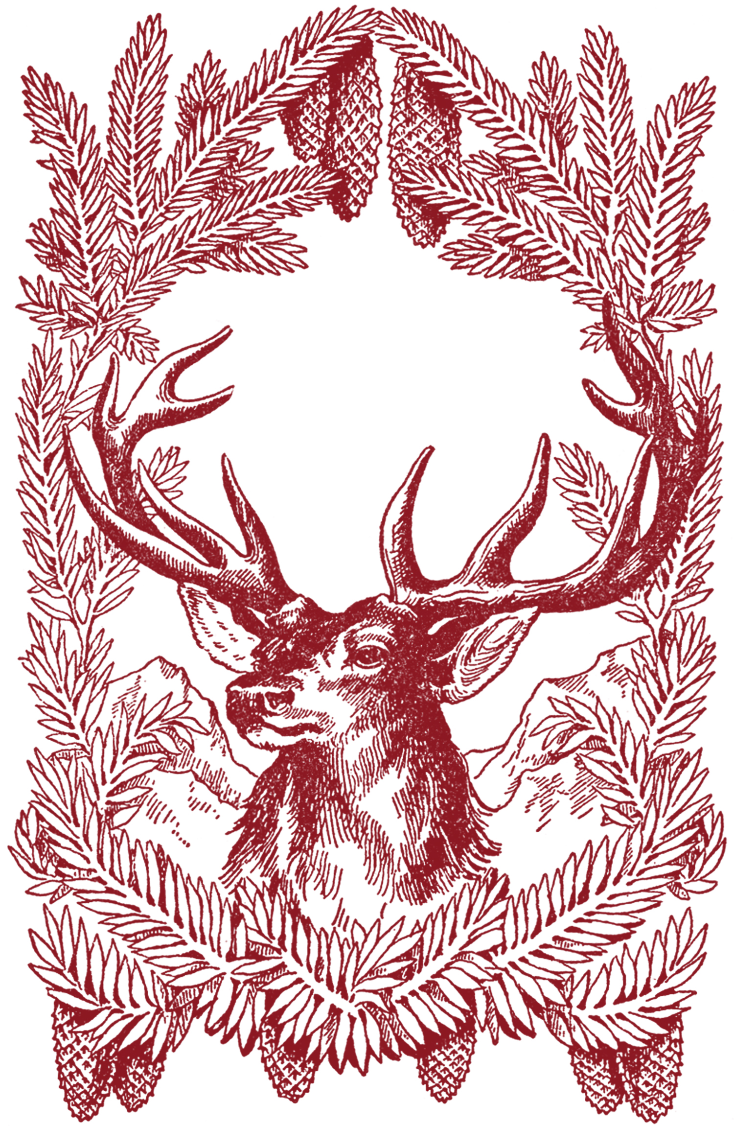Free vintage christmas pictures deer the graphics fairy for Graphics fairy
