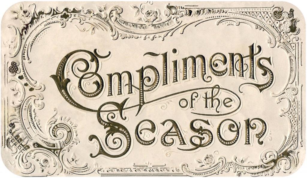 Vintage Christmas Label