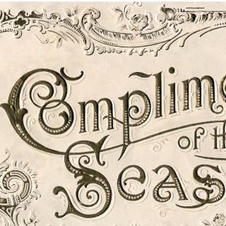 Amazing Vintage Christmas Label