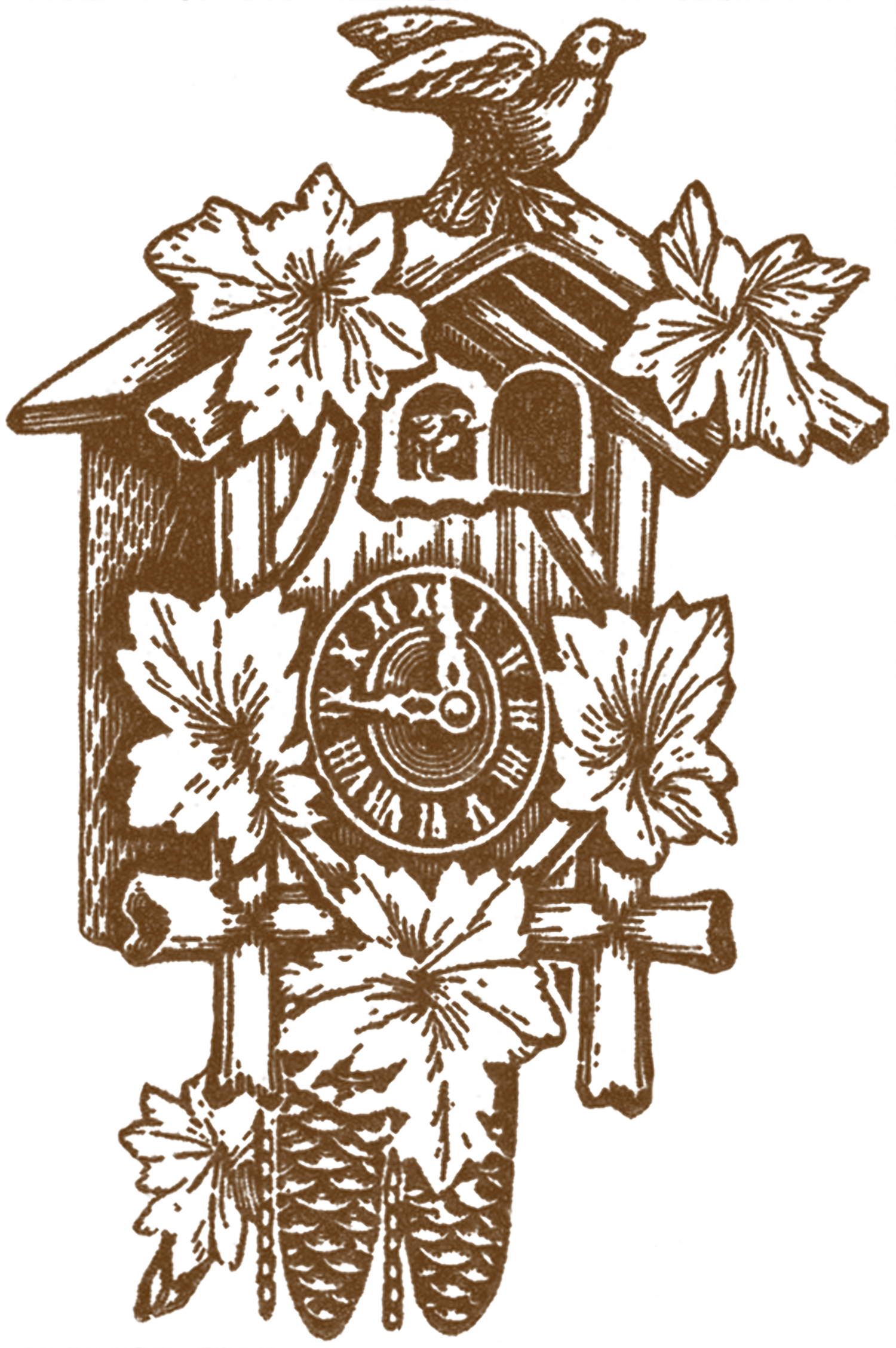 Vintage Cuckoo Clock Images The Graphics Fairy