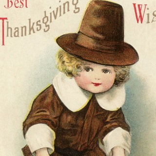 Adorable Vintage Pilgrim Boy Image