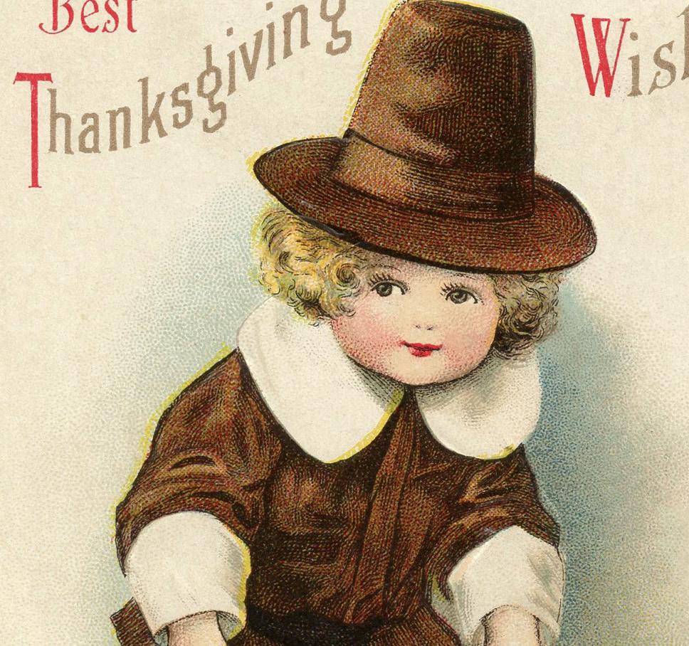 Adorable Vintage Pilgrim Boy Image The Graphics Fairy