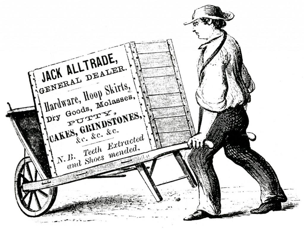 Wheelbarrow Sign Man Image