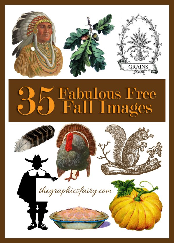 Free Vintage Thanksgiving Clip Art - The Graphics Fairy