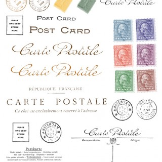 Postal Digital Collage Sheets and Photo Shop Brush Download