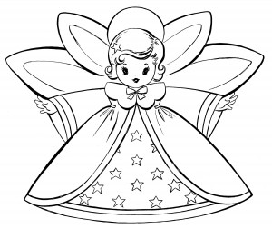 AngelsColoringPageGraphicsFairy  The Graphics Fairy