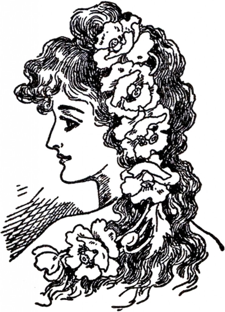 art nouveau lady images the graphics fairy