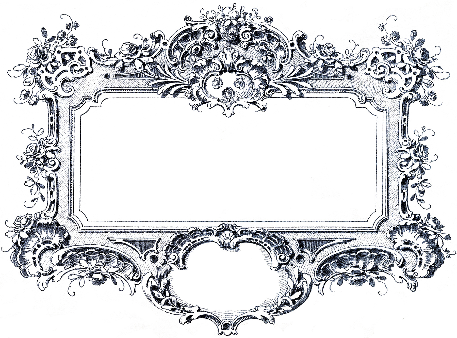 Gorgeous baroque frame images the graphics fairy for Miroir style baroque