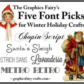 Best Free Fonts for Winter Holiday Crafts