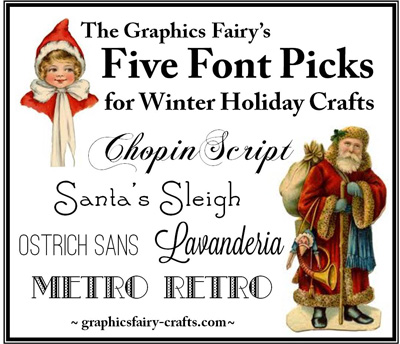 Best Free Fonts for Winter and Holiday Crafts