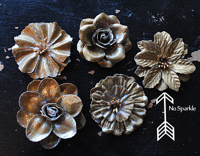 Mod Podge Sparkle Flowers