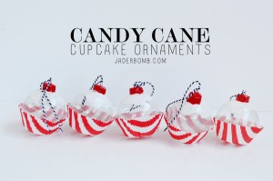 Candy Cane Cupcake ornaments jaderbomb.com