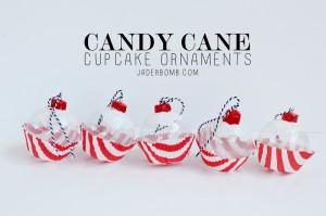 Candy Cane Cupcake ornaments jaderbomb.com