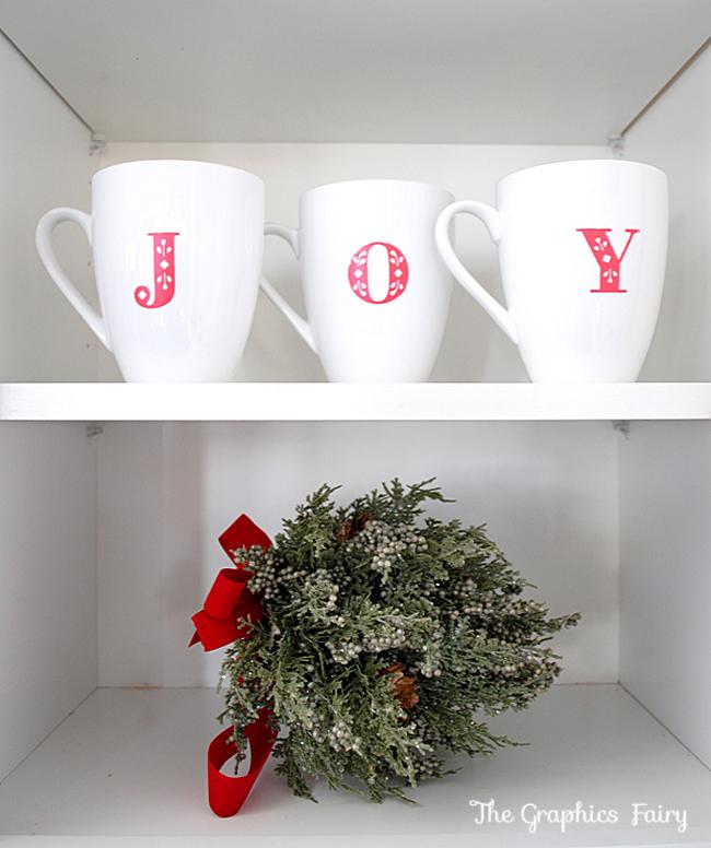 Joy Mugs Painted