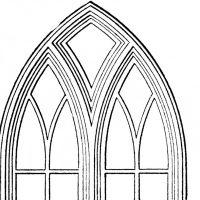 Gothic Church Windows Clip Art