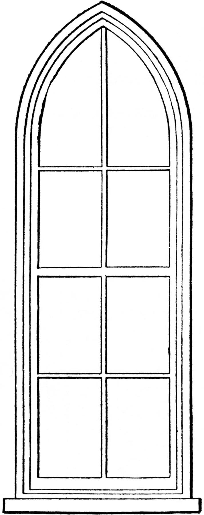 Church Window Drawings Gothic Church Windows Clip Art