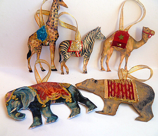 circus ornaments handmade