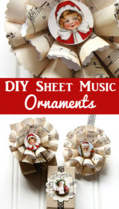 Sheet Music Christmas Ornaments DIY