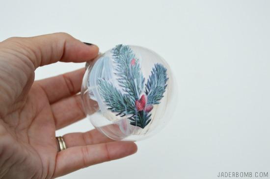 Decoupage ornaments