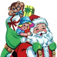 Free Christmas Picture Retro Santa