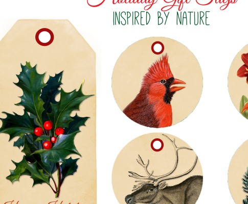 Printable Tags – Nature Inspired for the Holidays