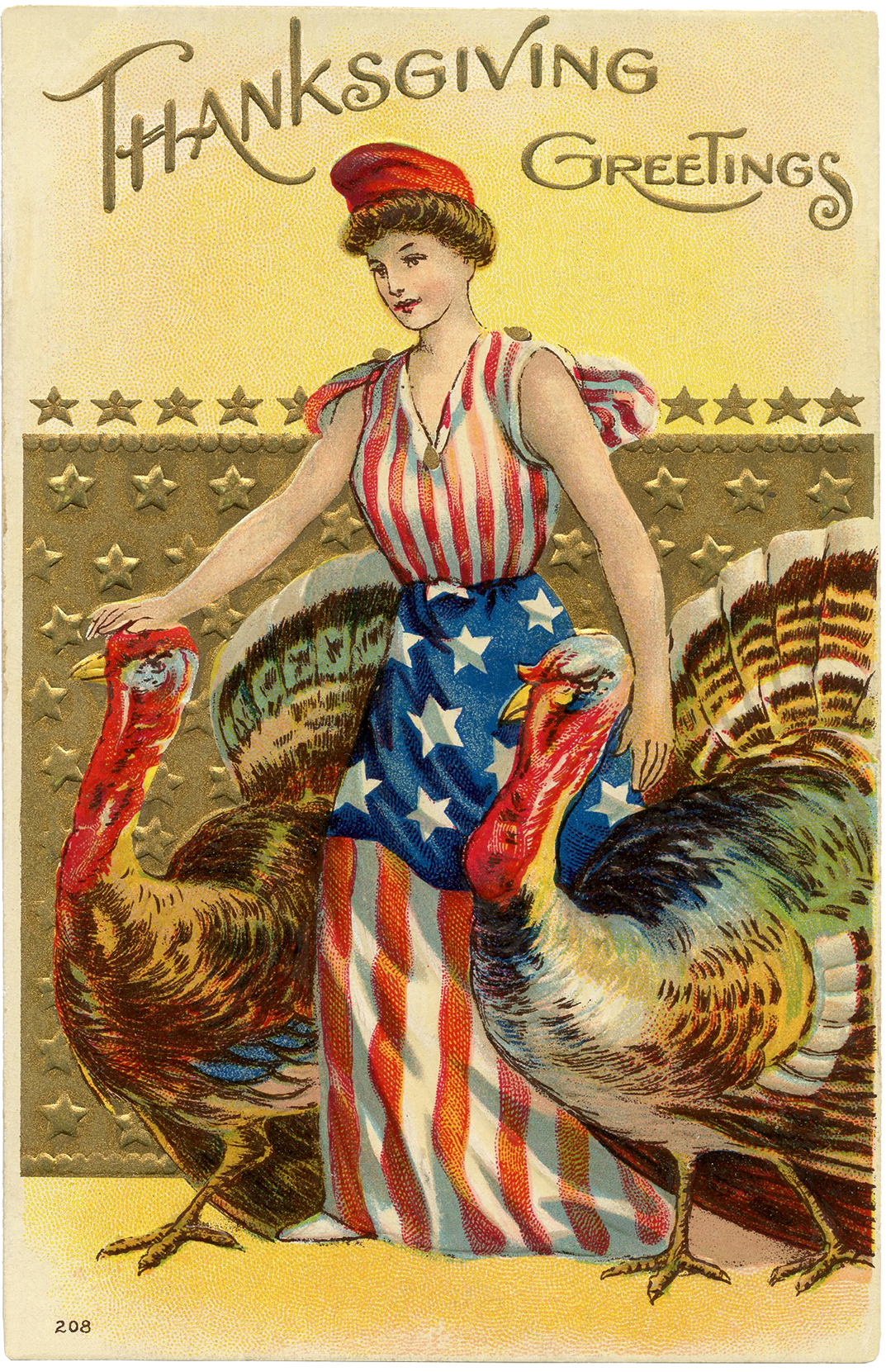 Free Thanksgiving Image - Patriotic - The Graphics Fairy