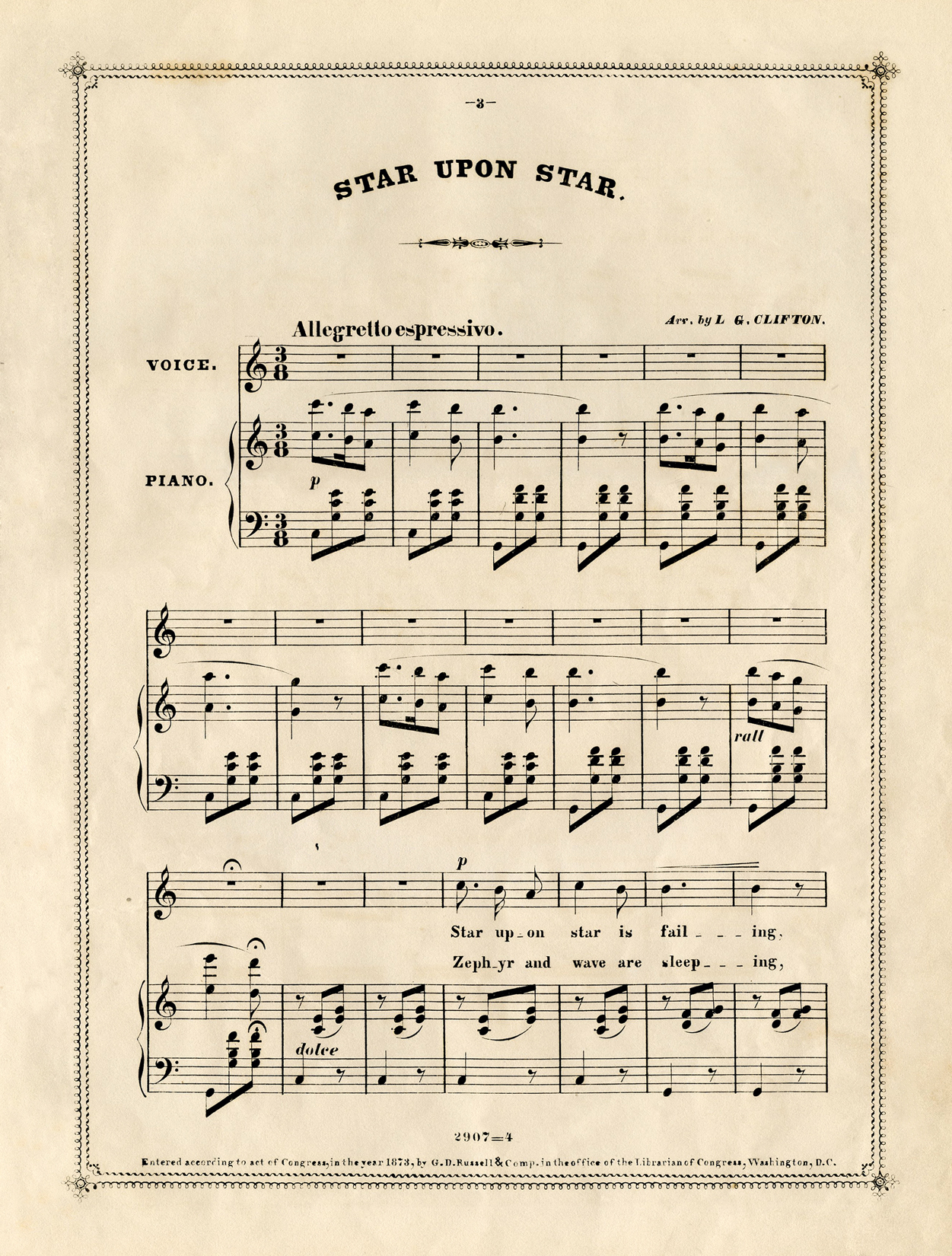 photograph regarding Vintage Sheet Music Printable known as Free of charge Typical Sheet Audio - The Graphics Fairy