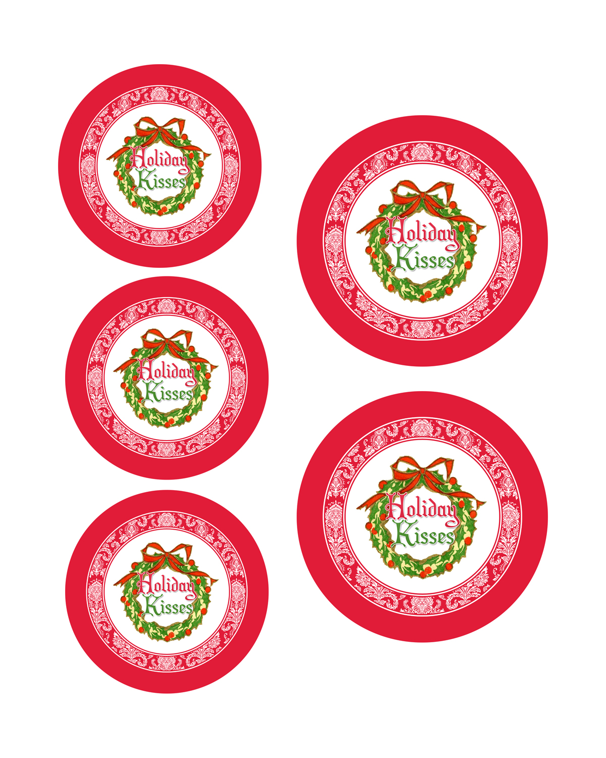 Printable Candy Jar Labels for the Holidays - The Graphics Fairy