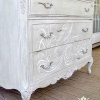Hand Painted Dresser Calligraphy