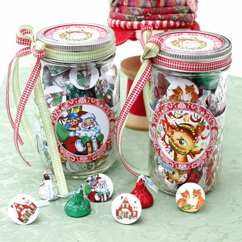 image about Printable Candy Labels identified as Printable Sweet Jar Labels for the Vacations - The Graphics Fairy