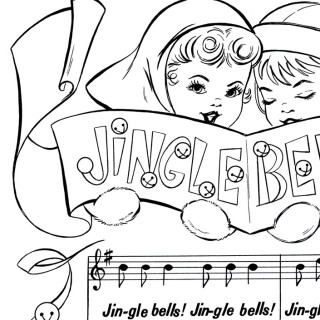 Printable Christmas Coloring Page – Jingle Bells