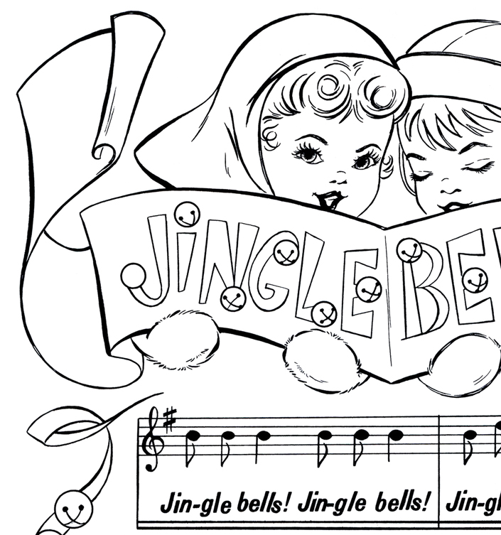 printable christmas coloring page jingle bells the graphics fairy. Black Bedroom Furniture Sets. Home Design Ideas