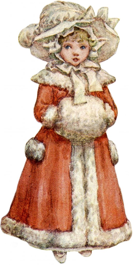 Kate Greenway Dickens Girl with Muff Images
